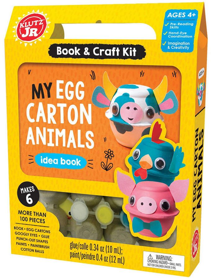 Klutz Jr My Egg Carton Animals In 2019 Animal Crafts Easter