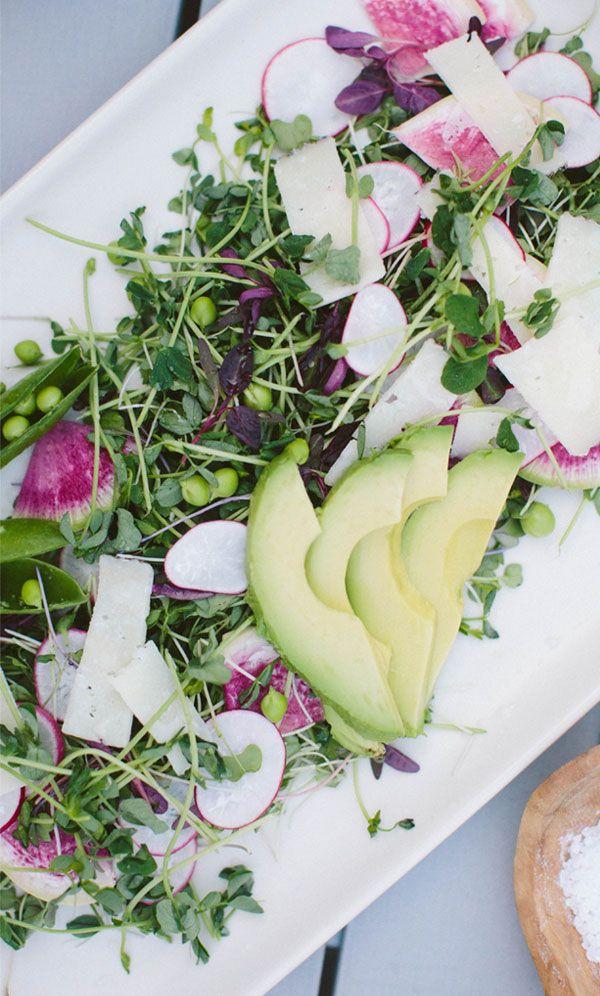 Pea Shoot, Radish & Avocado Salad recipe