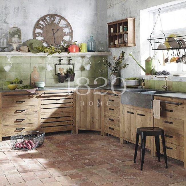 1820HOME французский страна / маш мраморные столешницы древесины Nordic можно разделить весь кабинет - Taobao