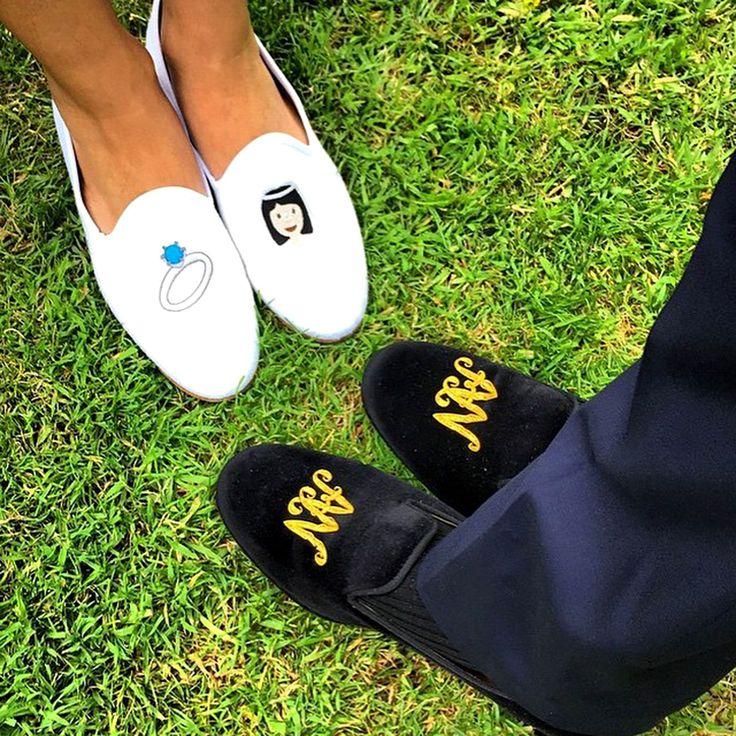 Las pantuflas de la feliz pareja