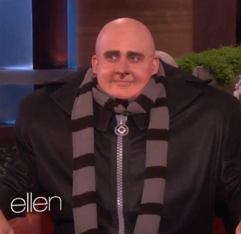 Steve Carell dressed as Gru. OMG
