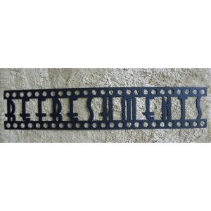 Home theater decor metal letters