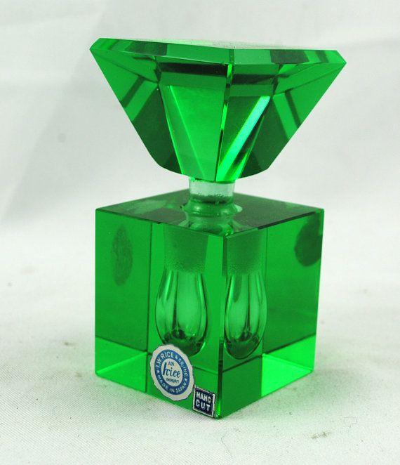 Vintage 1930's Art Deco Square Perfume Bottle