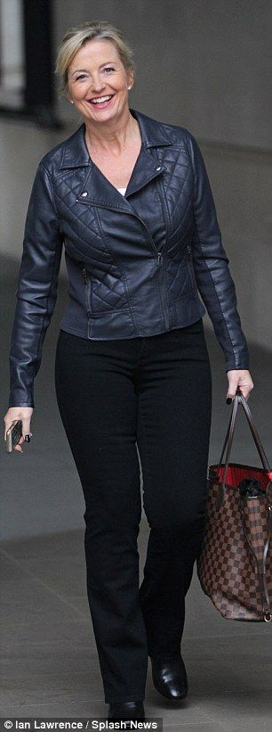 Busy day: Also spotted heading to Strictly practice on Tuesday was BBC weather girl Carol ...