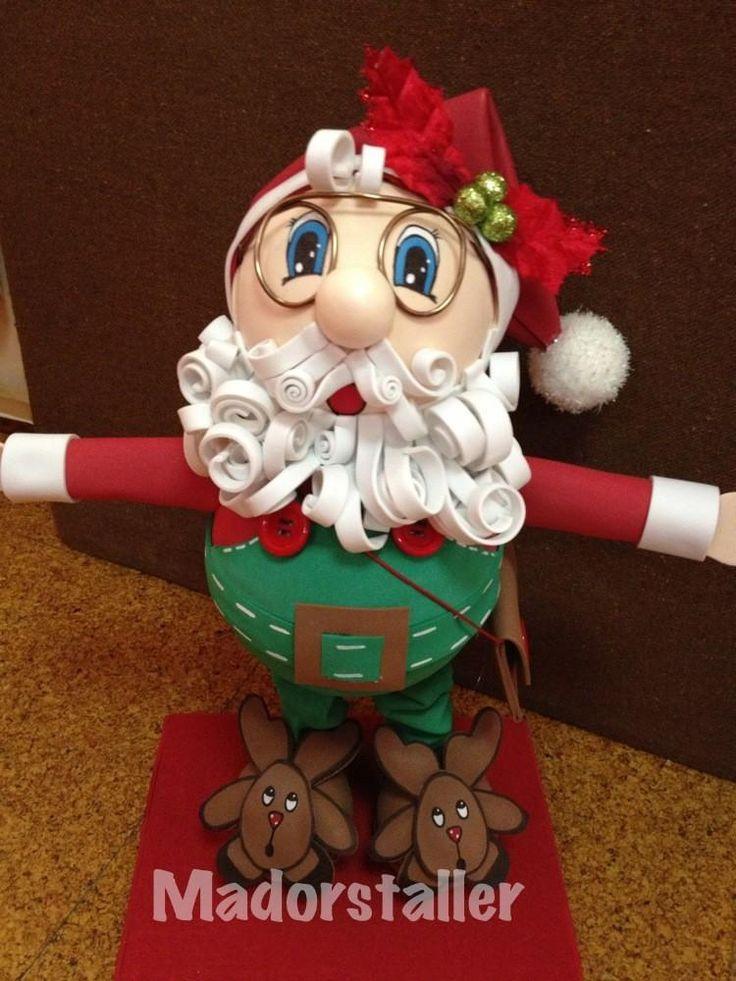 Papa Noel de goma eva