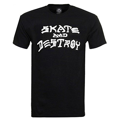 Thrasher Skate and Destroy Short Sleeve T-Shirt - Black