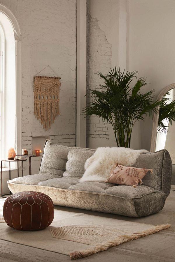 Greta Crushed Velvet Xl Sleeper Sofa Boho Living Room Living Room Decor Home Decor