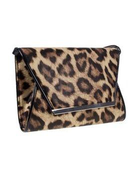 Multicoloured leopard print envelope clutch bag, Debenhams