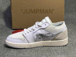 5482a94af33 Mens Womens Air Jordan 1 Low Custom White Sneakers