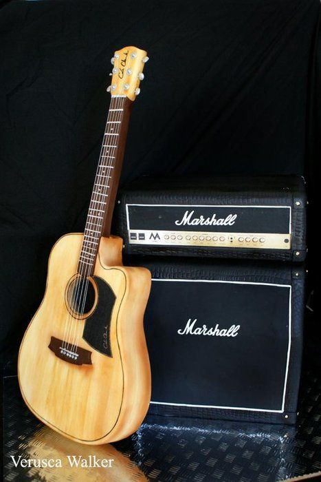 Marshall Cake and Guitar - by Verusca Walker @ CakesDecor.com - cake decorating website