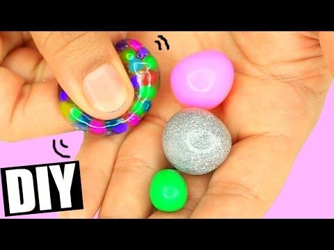DIY HOW To Make Mini Stress Balls! 4 Different Types of Stress balls! Orbeez and Disco Stress Balls! - YouTube
