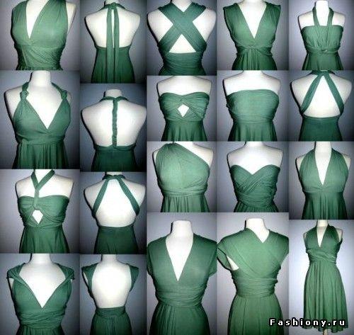 МК платье-трансформер / как сшить платье трансформер