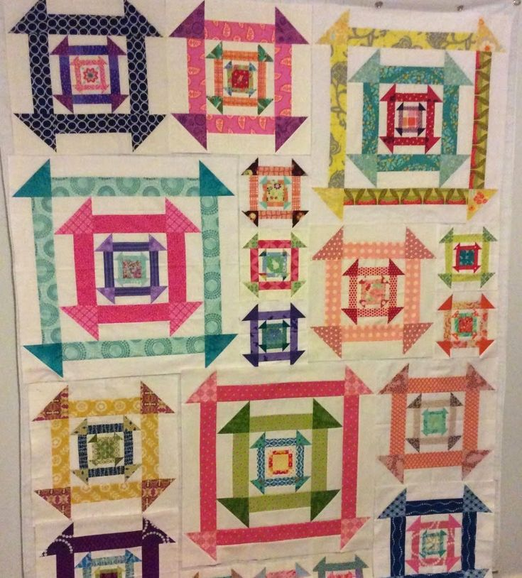 This is shaping up to be a fun churn dash quilt by Leanne of Daisy and Jack.