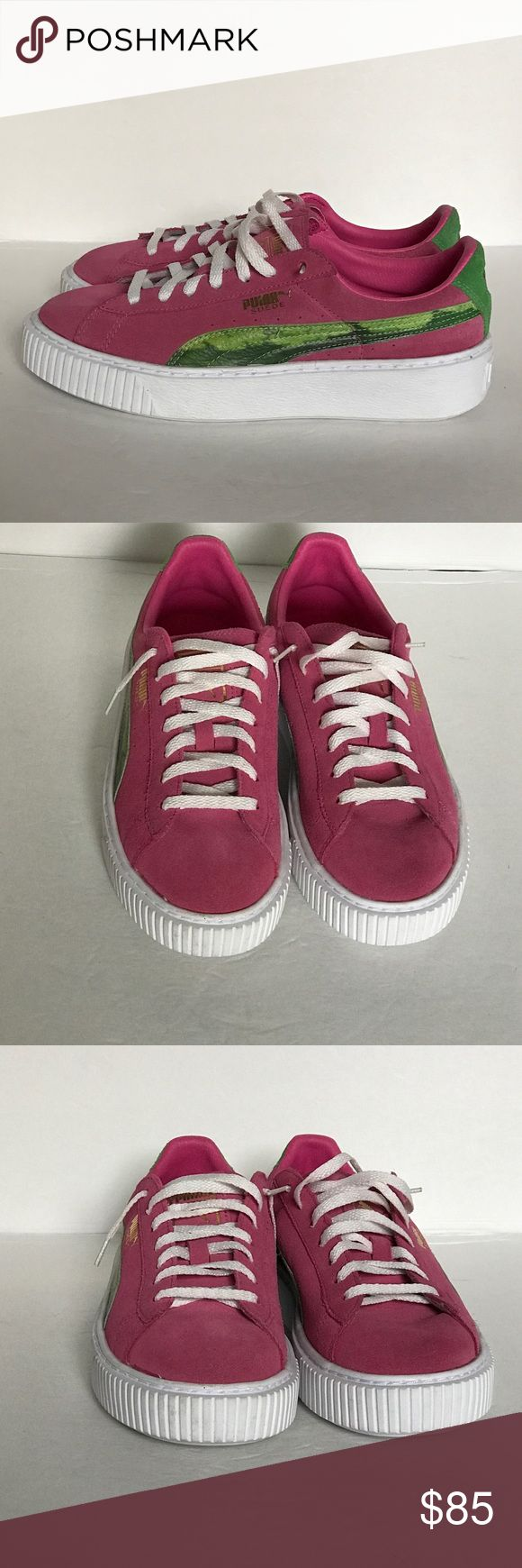 PUMA Platform Basket Creeper Watermelon SZ 6.5 C Brand New Without Box ...  PUMA Platform Basket Creeper Watermelon   Art #: 364732-01   Size: 6.5 C   Color: Watermelon   *** I'm a wardrobe stylist & the amazing pumas were purchased for a film but they were never worn on set. They are in Excellent Condition as show in detailed pictures *** Puma Shoes Sneakers