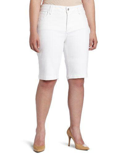 Not Your Daughter's Jeans Women's Plus Hannah Short, Optic White, 20W