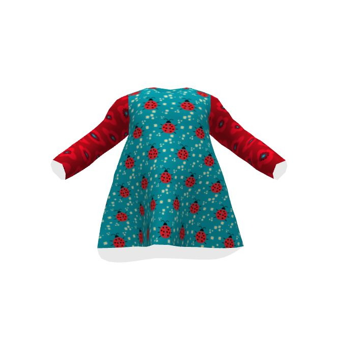 Brindille and Twig Baby T-shirt Dress made with Spoonflower designs on Sprout Patterns.