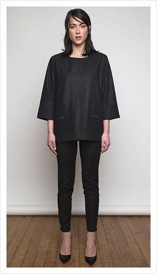 sweater coat & jasper pant   winter 2014 collection   juliette hogan