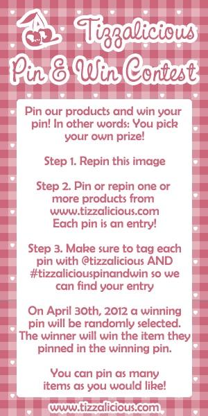 Tizzalicious.com Pin & Win Contest! #tizzaliciouspinandwin