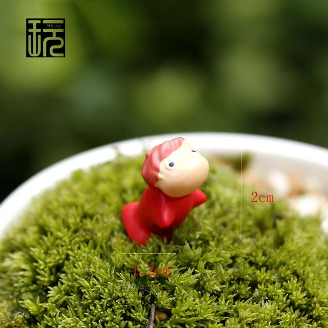 Miyazaki Anime Baby Girl Resin Craft Miniature Fairy Figurines Mini Garden/ Terrarium Accessories Micro Landscape Decoration