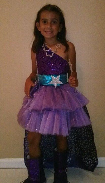 Barbie Princess And Popstar Keira Purple Dress Outfit Or Costume For Girls - 2 Piece Set ...