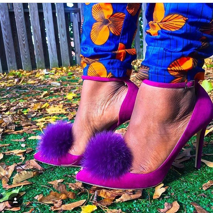 Purple Jimmy Choo shoes on a fall day. Actual customer photo protecting these designer shoes with Protect Your Pumps. Protect Your Pumps extends the life of your heels & keeps them looking new by protecting the bottom of your shoe from the ground | Order @ ProtectYourPumps.com
