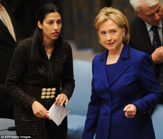 Hillary is 'horrified by Weiner and wants Huma to ditch him or else she won't be given as prestigious a job in the 2016 campaign'  Read more: http://www.dailymail.co.uk/news/article-2448701/Hillary-Clinton-wants-Huma-Abedin-ditch-Weiner-2016-campaign-job.html#ixzz2iwPyZ3sa  Follow us: @MailOnline on Twitter | DailyMail on Facebook