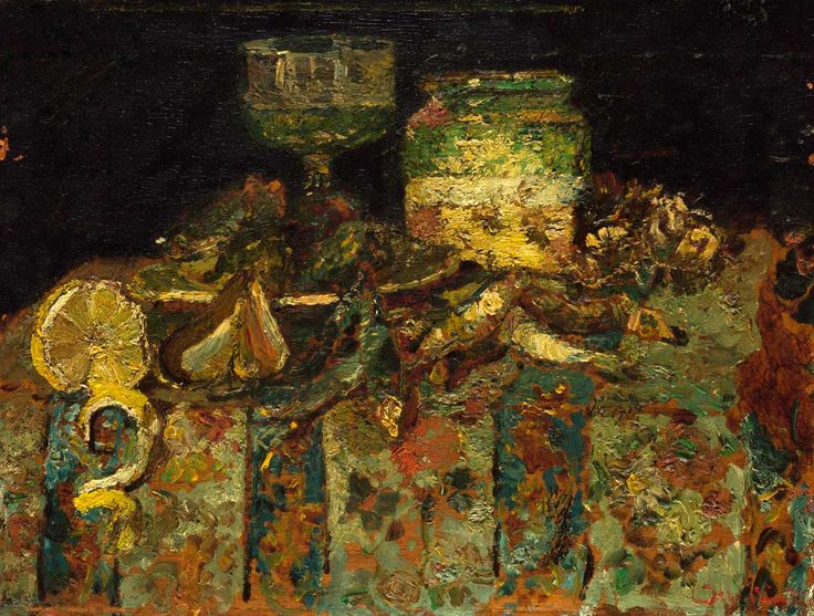 Adolphe Monticelli, Still Life, Oysters, Fish [c.1878-82]