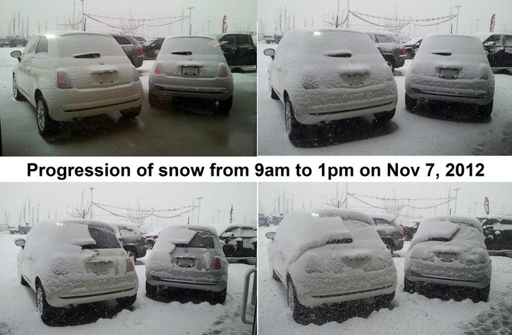In Edmonton we recieved our first real snow fall. Here we created our own time lapse for the progression of snowfall!