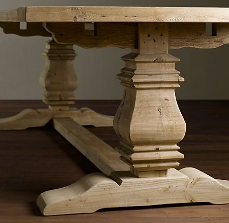 84 Trestle Salvaged Wood Extension Dining Table Rectangular Dining Ta