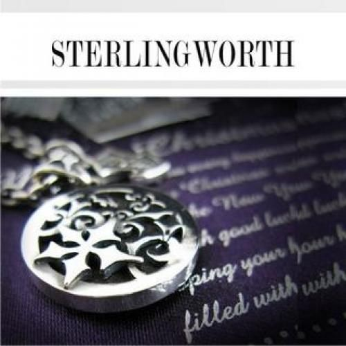 Engraved Silver Necklace
