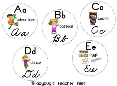Ladybug's Teacher Files: Cursive Alphabet Chart & Alphabet Line