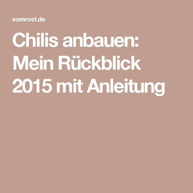 Chilis anbauen: Mein Rückblick 2015 mit Anleitung