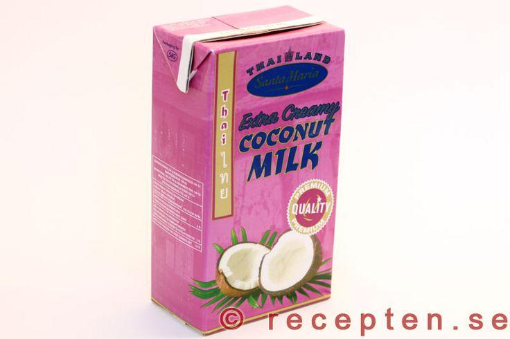 Här finns information och recept med kokosmjölk. Förvaringstips och olika sorters kokosmjölk - tunn och tjock. Hur man gör kokosmjölk själv m.m.