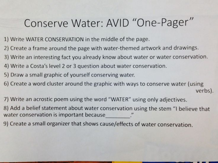 Use an AVID onepager to plan a 4th grade Expository writing composition  AVID Classroom