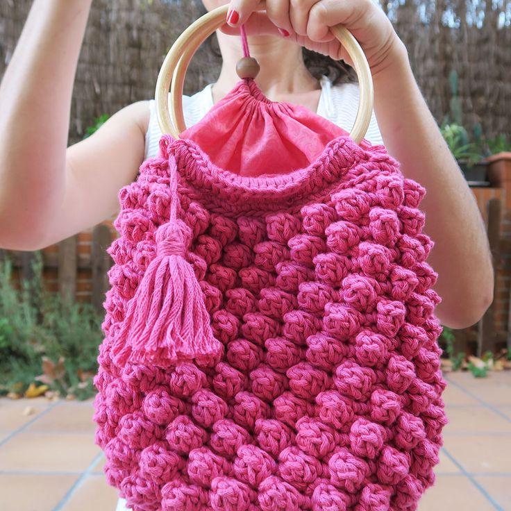 Encantador Crochet Patrón De Puntada De Palomitas Foto - Manta de ...