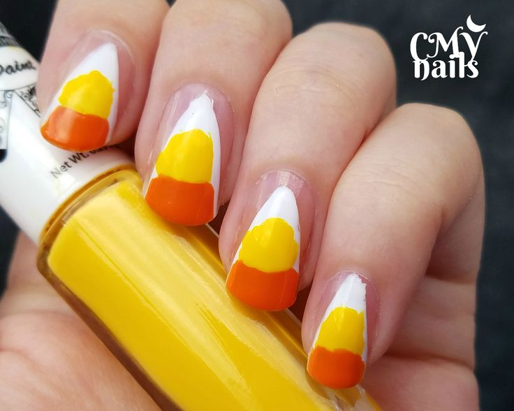 25 parasta ideaa pinterestiss candy corn nails lomakynnet glam nails challenge oct candy corn nail art prinsesfo Image collections