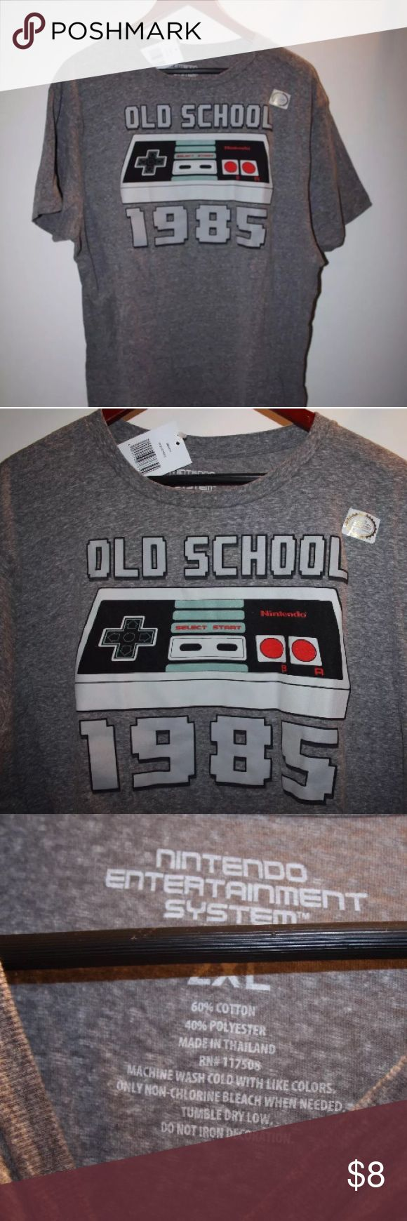 """BMWT Nintendo System 2XL 1985 Unisex Tee Ah it is ok to say """"good old times""""? Brand new with tags Nintendo systems tshirt it is unisex! 2XL Nintendo Shirts Tees - Short Sleeve"""