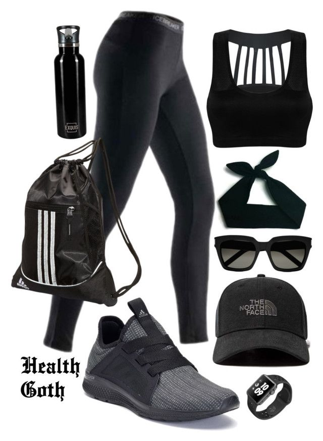 Running While Goth by blackbettyblog on Polyvore featuring Icebreaker,  adidas, Yves Saint Laurent,
