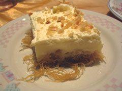 Ekmek KataifiGreek Food Recipe, Greek Recipe, Custards Cake Yum, Cake Slic, Cream Greek, Food Yumyumyummi, Sweets Desserts, Favorite Desserts, Greek Desserts