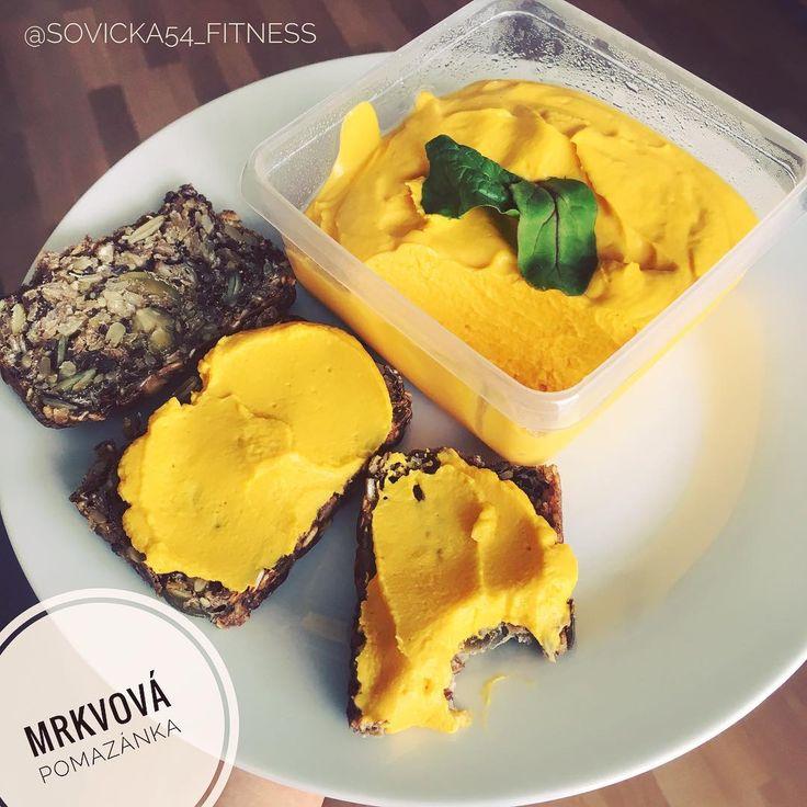 """163 To se mi líbí, 2 komentářů – Sovička #fitnesslover ❤💪🏼 (@sovicka54_fitness) na Instagramu: """"MRKVOVÁ POMAZÁNKA🥕 * 2 větší mrkve * 1 PL olivového oleje * 1 PL sýru Goldessa Balance z Lidlu *…"""""""