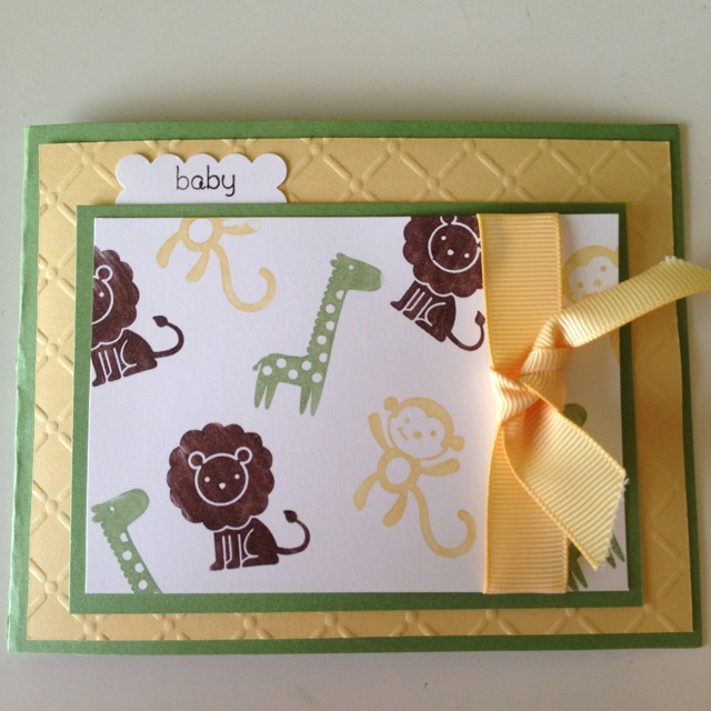 Zoo baby boy card!!! I could do pinks for girl also!!! How cute is this!!! Love it!!!