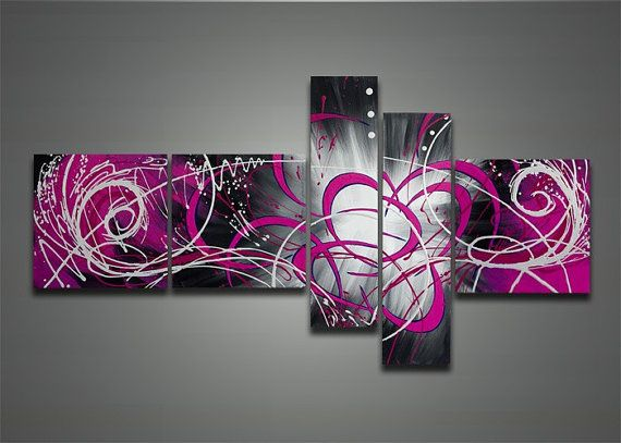 handpainted modern abstract oil painting on by GlobalArtwork