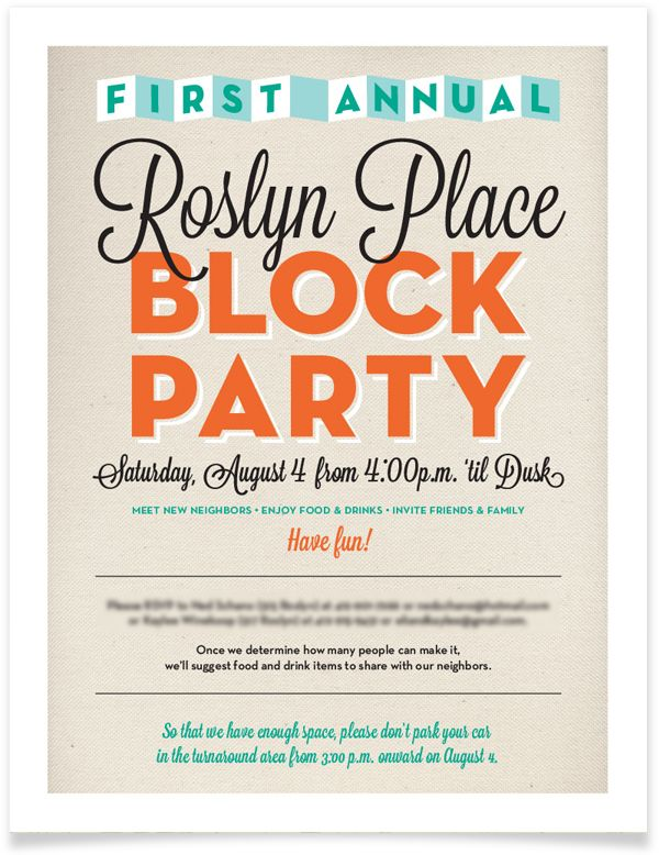 ... on Pinterest | Typography, Movie night party and Block party invites