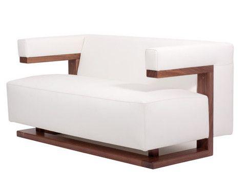 Two Seat Sofa Walter Gropius Bauhaus white sofa