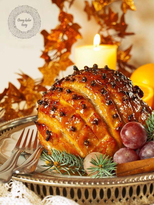 Świąteczna szynka w cytrusowo-korzennej glazurze. | Ósmy kolor tęczy - Blog kulinarny