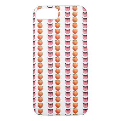 Valentine Emoji Birthday Tongue Peach Iphone Case