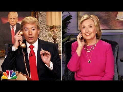 Jimmy Fallon Does Hilarious Donald Trump Impersonation In Phone Call With Hillary Clinton (Videos)