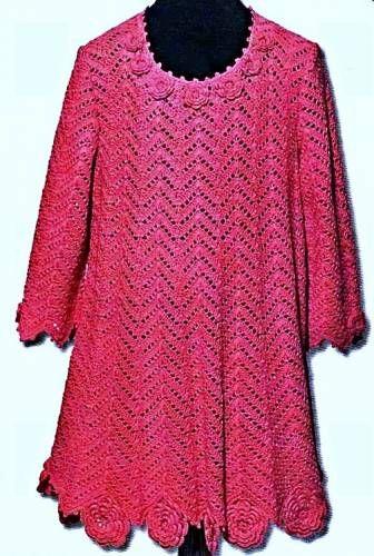 """Платье связанное крючком-""""Первый бал"""". - Вязание платьев для девочек - Вязание девочкам - Вязание для малышей - Вязание для детей. Вязание спицами, крючком для малышей"""
