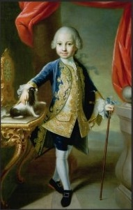 Portrait of a Boy with Pet Spaniel - Attributed to Martin van Meytens (1695-1770)  Swedish-Austrian painter who painted members of the royal Court of Austria such as Marie Antoinette, Maria Theresa of Austria, Francis I, Holy Roman Emperor, the Emperor's family & others. His painting style has inspired many other painters to paint in a similar format. Meytens was one of the most significant  painters of representative Baroque courtly portrait...his influence remained alive & widespread...