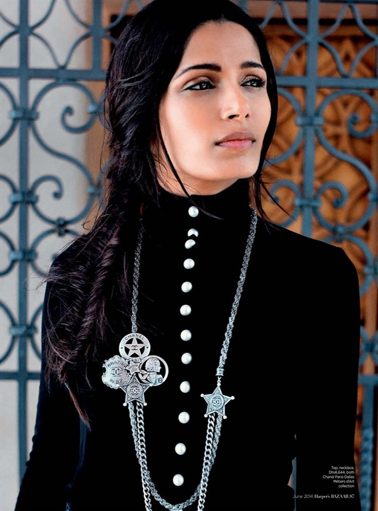 Chanel, Freida Pinto Harper's Bazaar Arabia June 2014